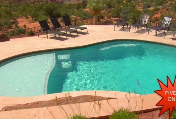 provide 4 Videos for a Pool Care Company