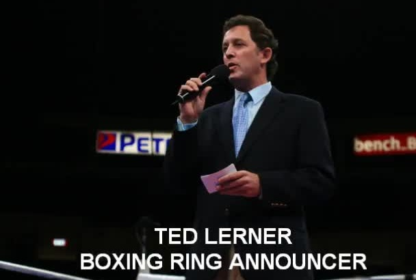 record a voice over as a boxing ring announcer