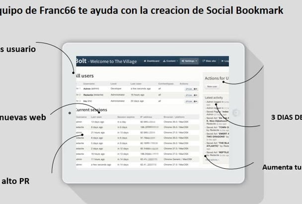 crear 300 Social Bookmarking