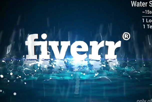 create Water Splash Logo Reveal for your project