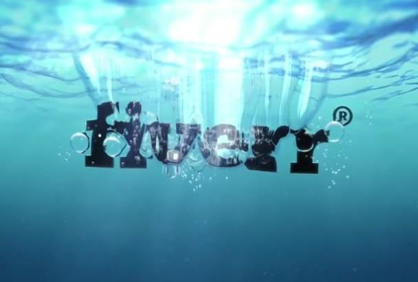 reveal your Logo Underwater Video Intro