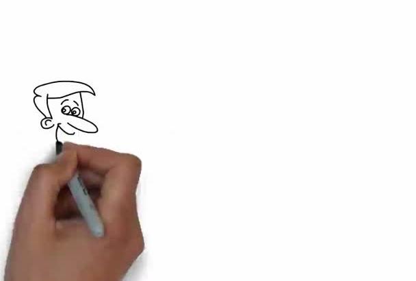 create custom DOODLE whiteboard video