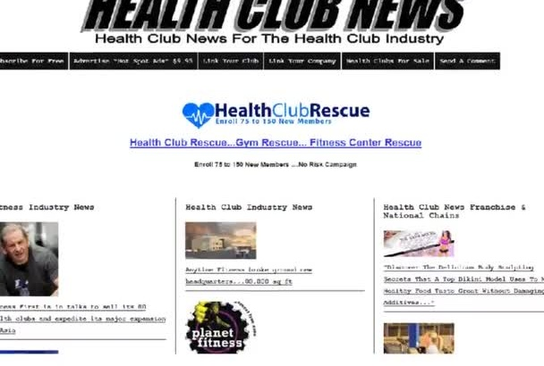 advertise your product or site on Health Club News