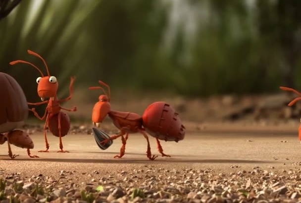 put your logo or text in this ants animation
