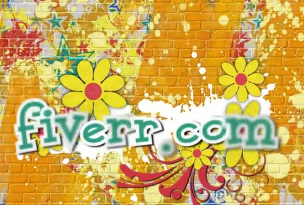 make this Graffiti colored flowers SLIDESHOW video with pictures