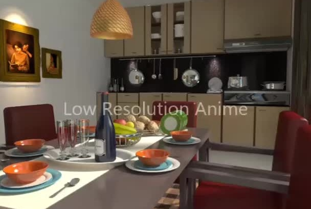 design a 3d model of any plan,Interiors or objects