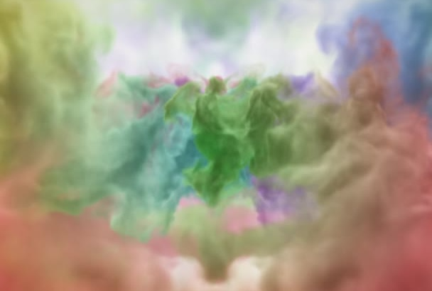 make colorful SMOKE intro video