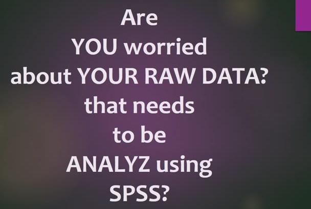 do data analysis on SPSS