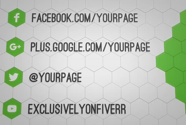 make a social media style outro clip