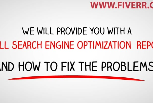 review your website and write a SEO Report within 24hrs