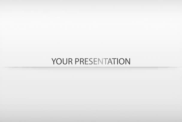 do presentation or a slideshow