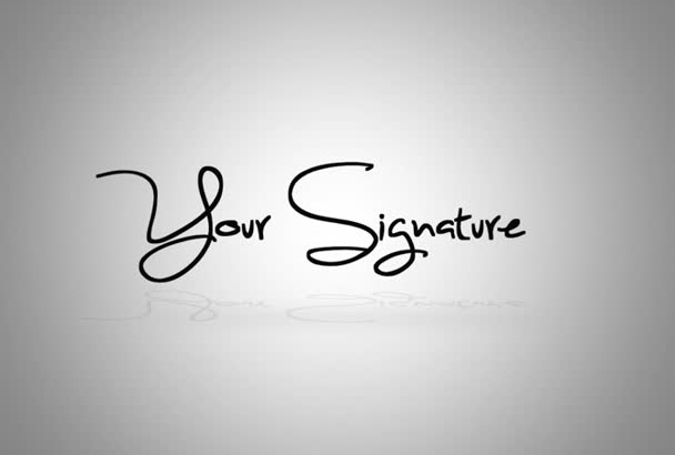 make signature video