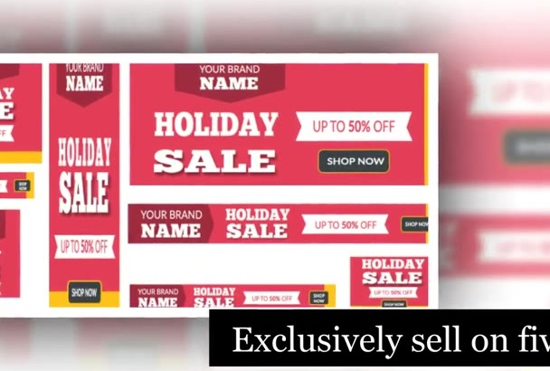design Creative sale banner,banner Ad Design