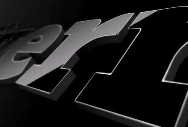 create clean fantastic logo intro