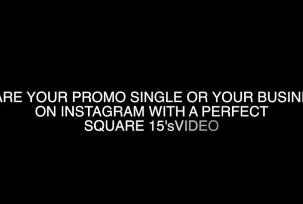 do a 15s instagram video with your song