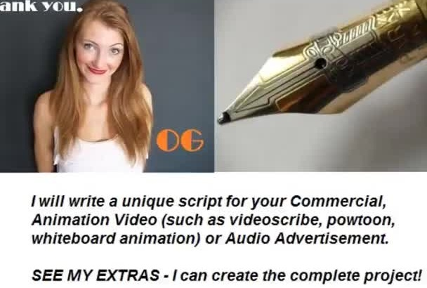 write an engaging script for your commercial or video