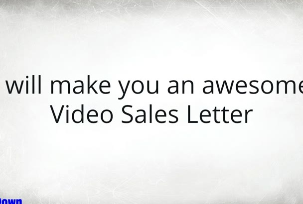 make You An Awesome Video Sales Letter