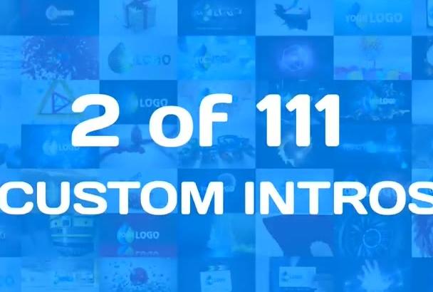 do 2 of 111 CUSTOM business logo intro animation