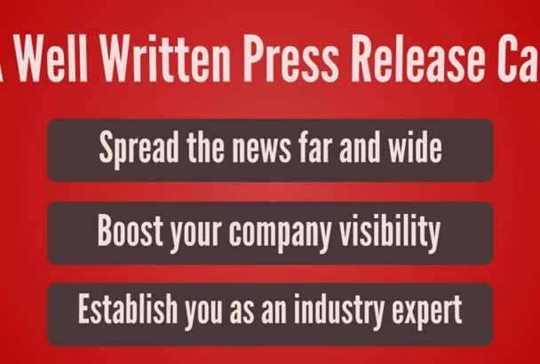 write an EXPERT Press Release
