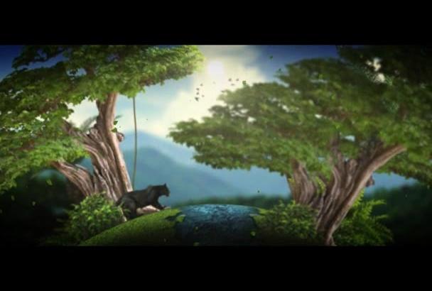 create Lyrics Into 3D Animation Style