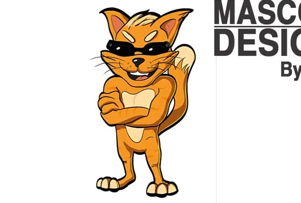 create The Cool Vector Mascot for your Brand