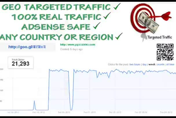 send 10K GEO Targeted and worldwide Visitors to your Website or Url