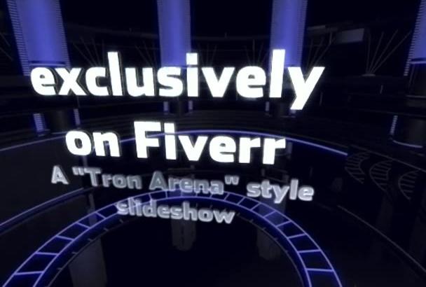 create a Tron Sports Arena Slideshow Presentation