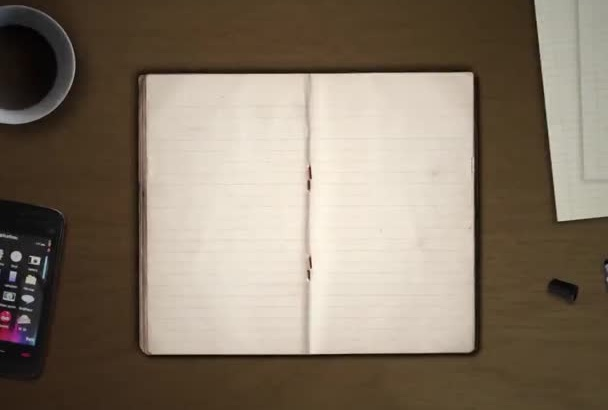 creative Notepad Brain Storming Idea Intro Video