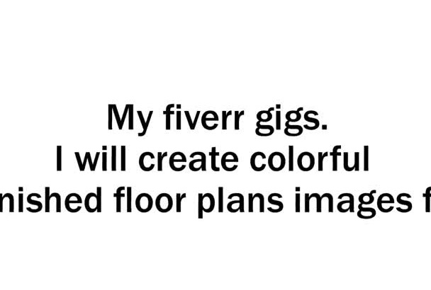 create colorful furnished floor plans images fast