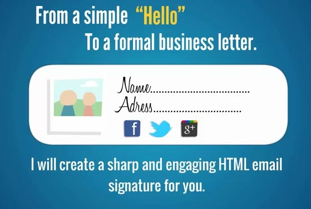 create a professional HTML email signature