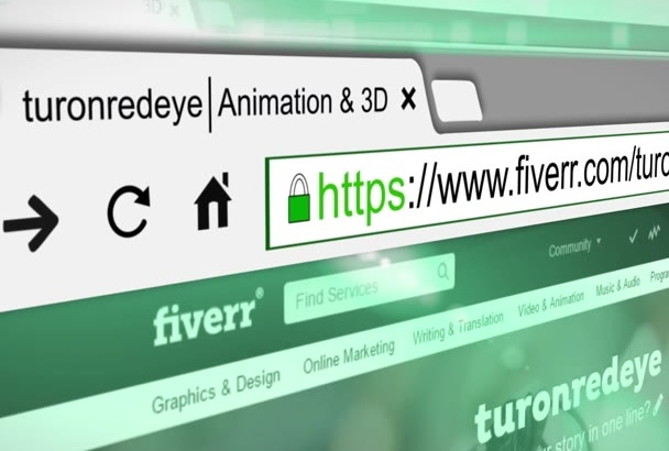 make amazing 3D Google Search animation video