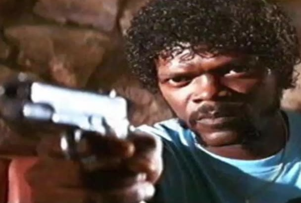 voiceover Sam Jackson Style Pulp Fiction today