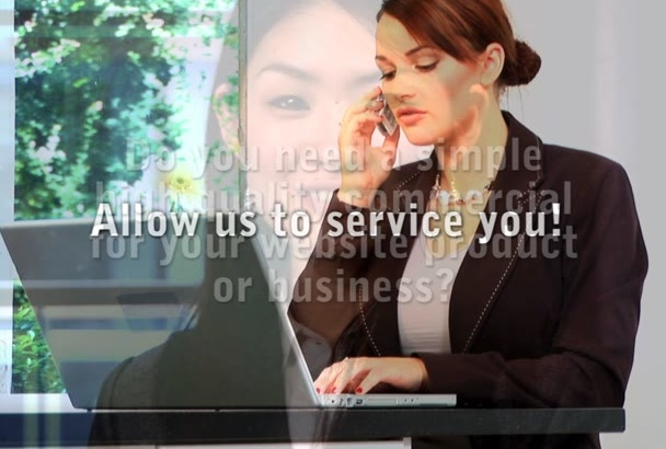create a low priced high quality custom text commercial