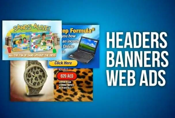 design high IMPRESSION web ads, banners, headers