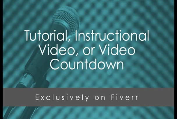 voice your tutorial, instructional video, or countdown