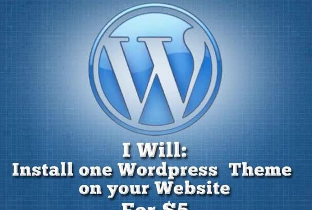 install one wordpress theme onto your wordpress blog