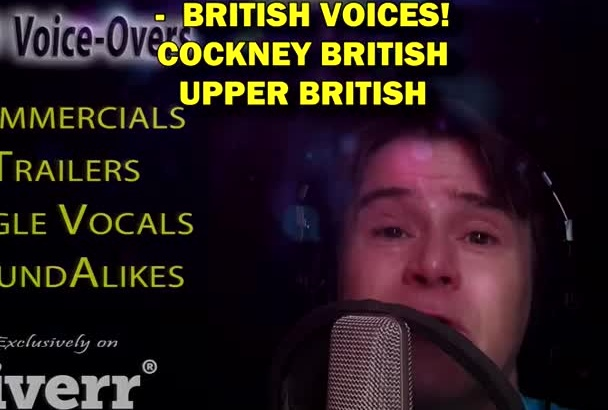 record a BRITISH Voice Over