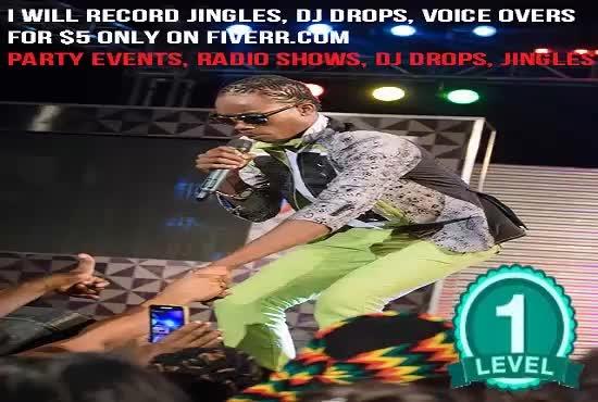 record jingles, dj drops, voice overs