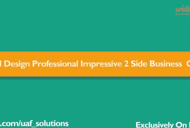 design Impressive Professional 2Side Business Card