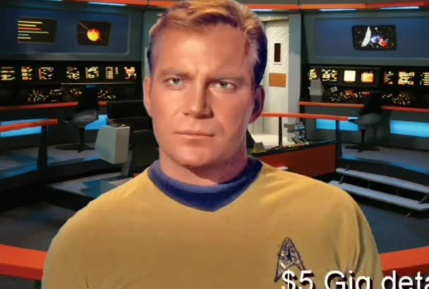 mimic Captain KIRK a Video Message, Greeting, Intro