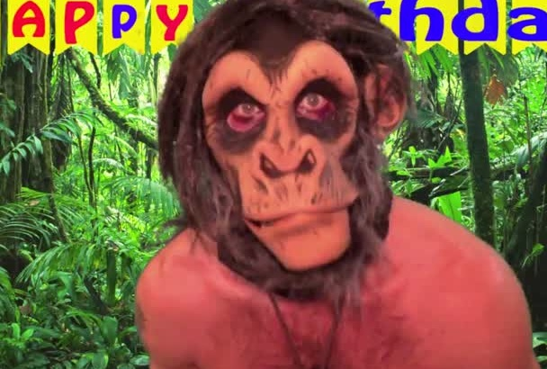 send you this dancing birthday video as an ape