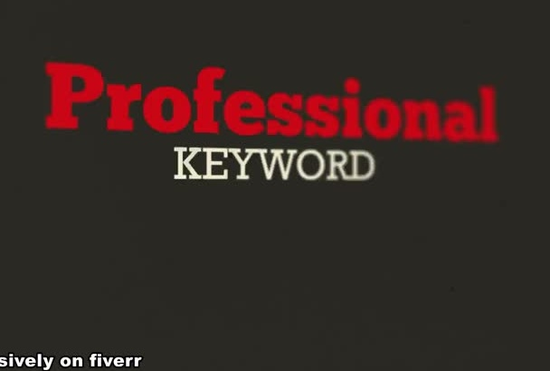 do expert level Keyword Research and Analysis for your niche