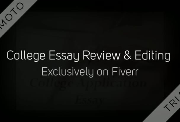 review and edit your college admissions essay