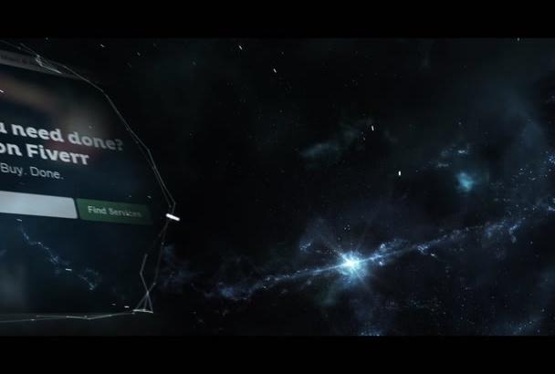 make galaxy logo reveal intro