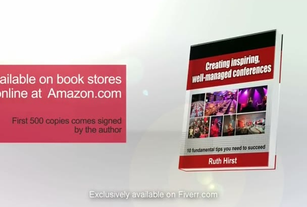 design Kindle, Book or eBook Marketing Promotion 3D Video
