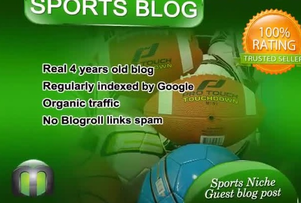write and guest post on SPORTS blog