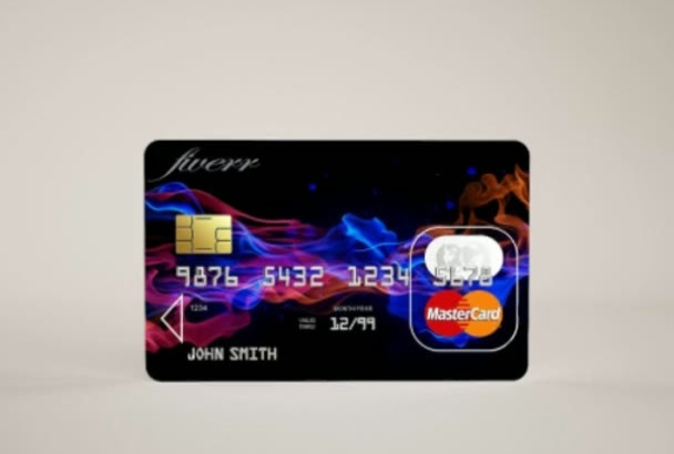 turn your brand into 4 Professional Credit Card Mockup
