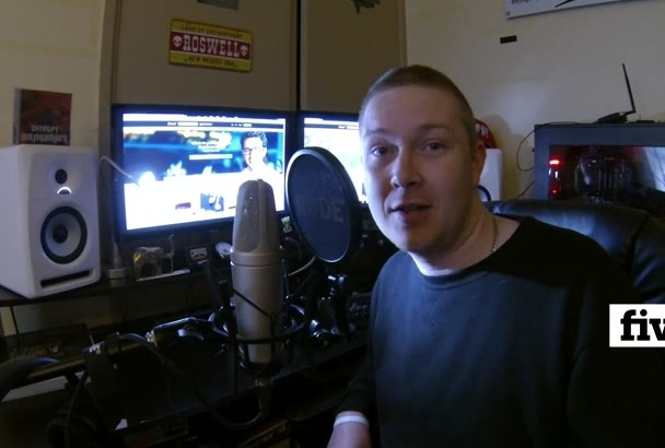record a MALE voice over in under 24 hours