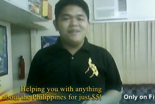 help you with anything about the Philippines