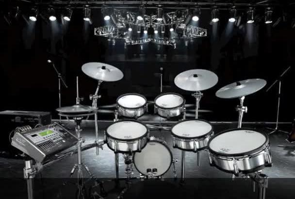 create studio quality acoustic rock drums